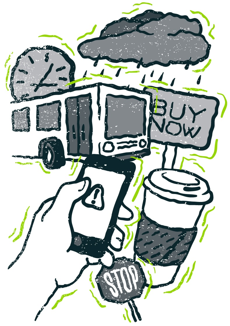 anxious-mobile-phone-user-distracted-by-city-life-bus-coffee-weather
