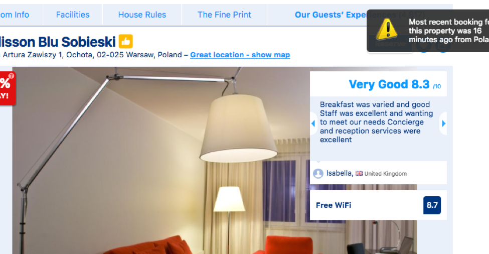 Booking.com Example 3