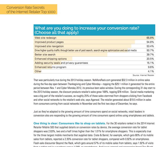 fedex internet retailer conversion rate optimization statistics