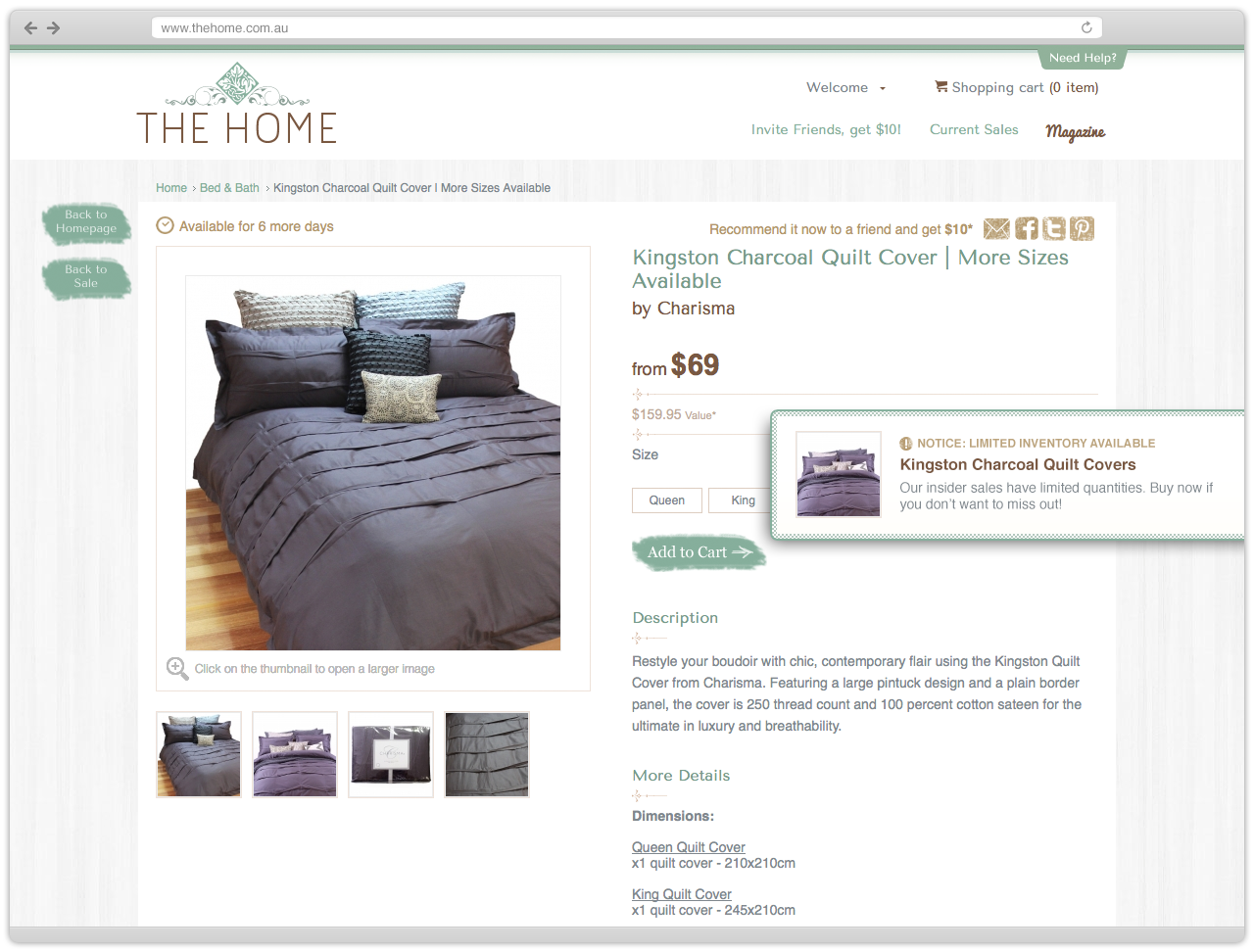 The Home Inventory Slider